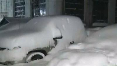 Raw: Heavy Snow Blankets Upstate New York
