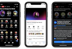 Facebook launches its Clubhouse clone and podcast streaming