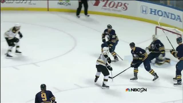 Marchand slaps one past Enroth