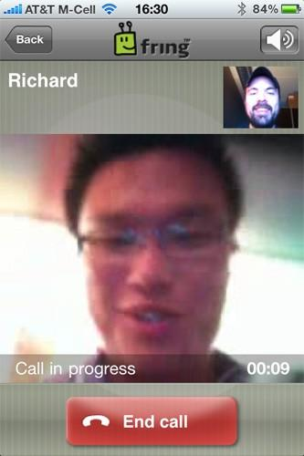 Fring update approved for iPhone, does video calling with front cam over 3G