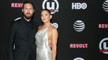 Kate Hudson's Beau Danny Fujikawa Hilariously Shows Off Fake Baby Bump