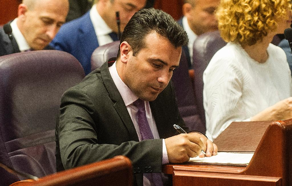"""Recently-elected Macedonian Prime Minister Zoran Zaev seemed to relax the line of nationalist predecessors in suggesting the country can use a """"FYROM reference"""" in its name as it targets NATO membership (AFP Photo/Robert ATANASOVSKI)"""