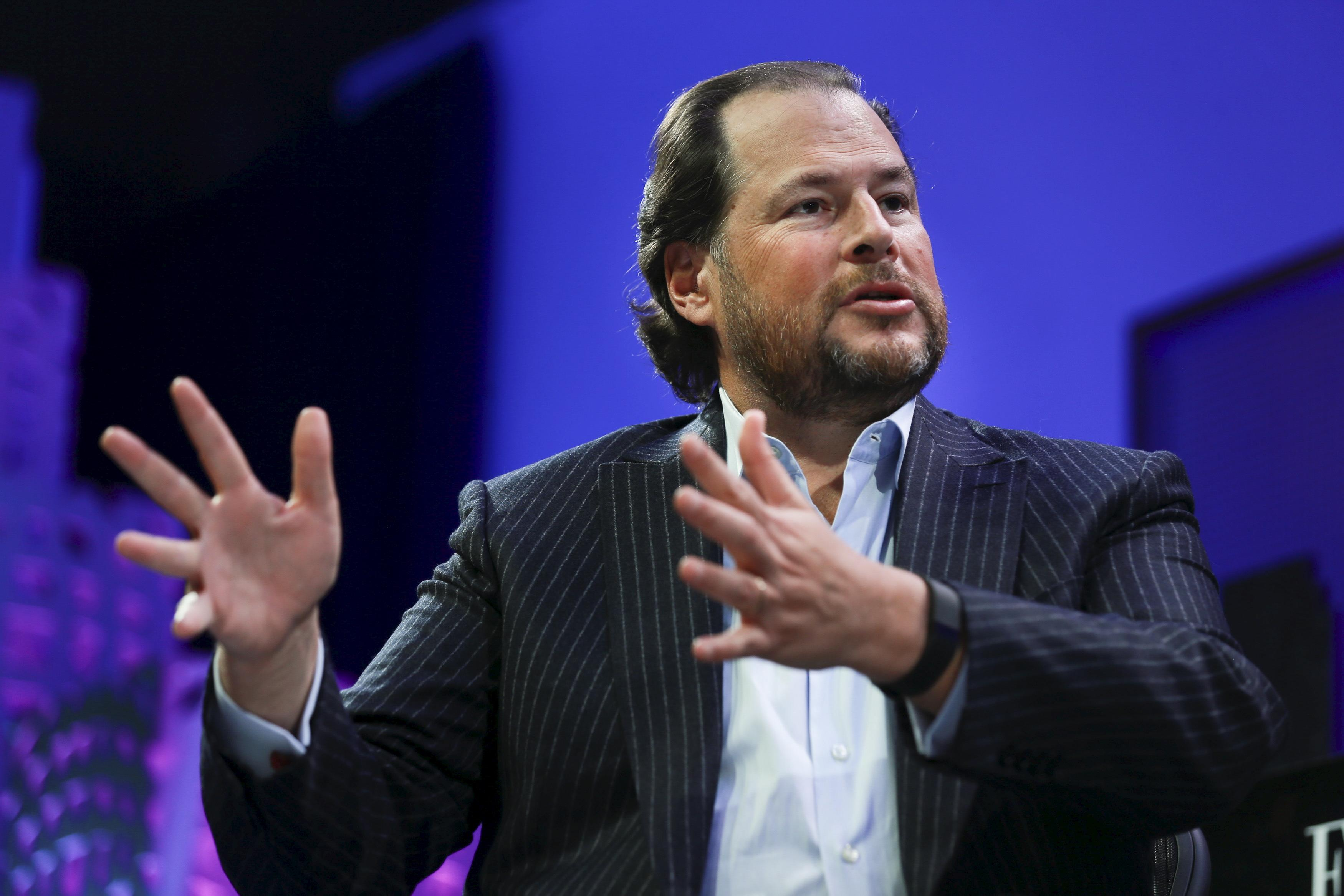 Salesforce's CEO rallies to the coronavirus fight, vows no layoffs for at least 90 days