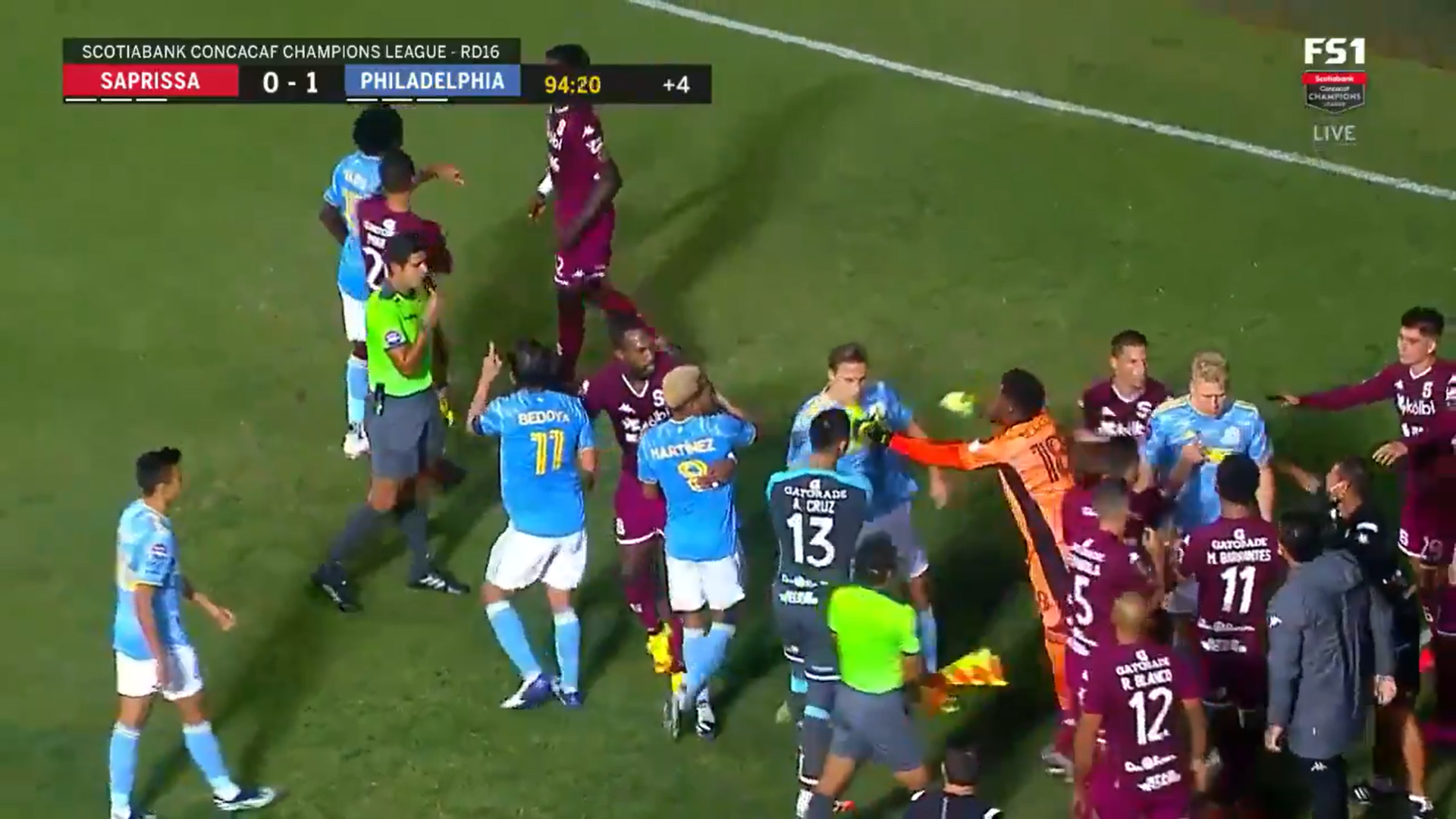 CONCACAF: Watch bench-clearing fight end Philadelphia Union vs. Deportivo Saprissa