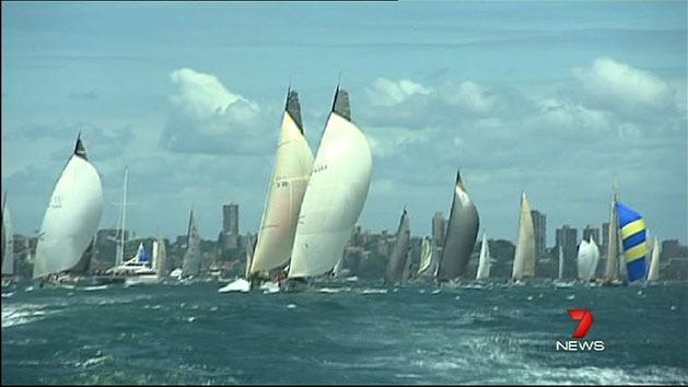 Sydney to Hobart begins with a bang