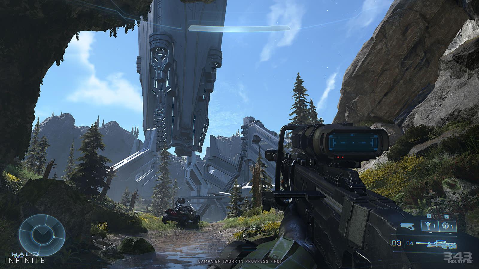 'Halo Infinite' screenshot of Zeta Halo