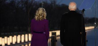 Biden leads poignant COVID-19 memorial service