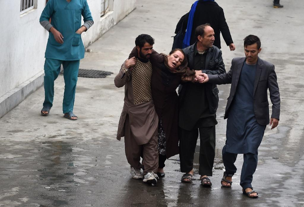 A massive suicide blast targeting Shiites killed at least 30 people at a Kabul mosque in November 2016 (AFP Photo/Wakil Kohsar)