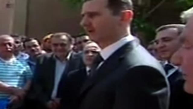 Syria's Assad in May Day public appearance