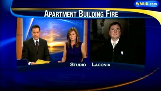Fire rips through Laconia apartment building