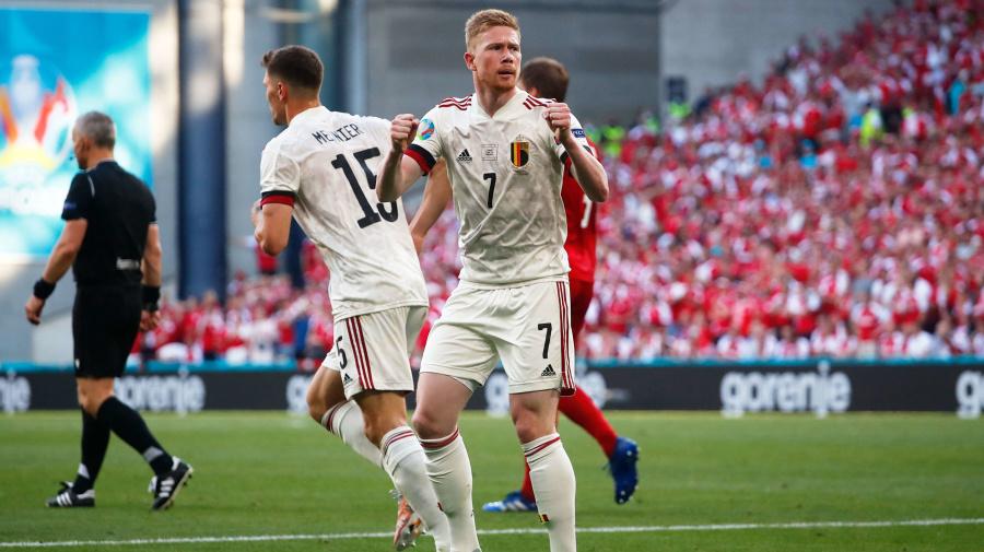 De Bruyne, Belgium play spoiler in Denmark
