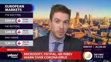 Microsoft, Paypal, Ab Inbev warn over Coronavirus