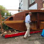 Retired man pulls patio door off his house to remove 16ft boat he built in lockdown