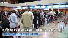 Coronavirus, restrizioni per gli italiani all'estero