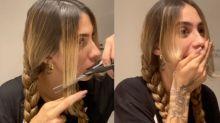 Após boatos de separação, Gabi corta o cabelo em casa e se arrepende