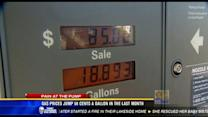 Gas prices jump 58 cents a gallon in the last month