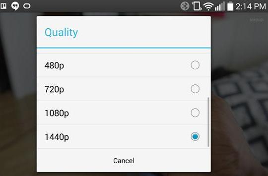 You can now watch YouTube videos in 1440p on the LG G3