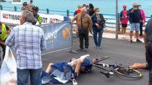 Giro - Giro: deux chutes à cause d'un hélicoptère qui volait trop bas