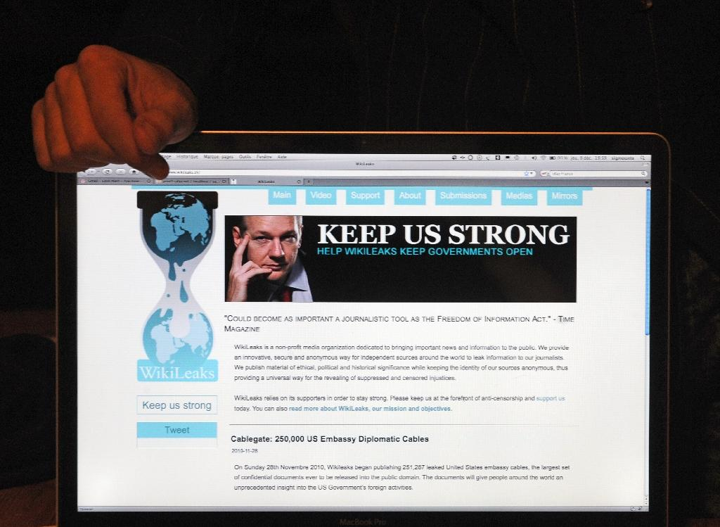 Anonymous whistleblowing platform WikiLeaks was launched in January 2007 (AFP Photo/Philippe Huguen)