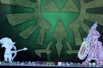 Watch Link rescue Zelda using 16 Apple devices