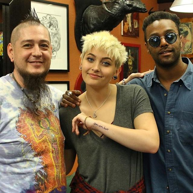 Paris Jackson Dedicates New Tattoo to Her Father Michael: 'He Was the King of My Heart' 207c63201efd31a7bb6b67897fe68a7d