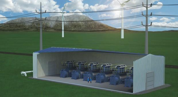 First grid-scale compressed air battery now operational
