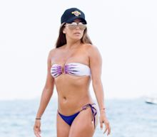Bikini-Clad Eva Longoria Has a Steamy Make-Out Session on the Beach