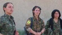Female Yazidi Fighters Arrive in Raqqa to Fight Islamic State