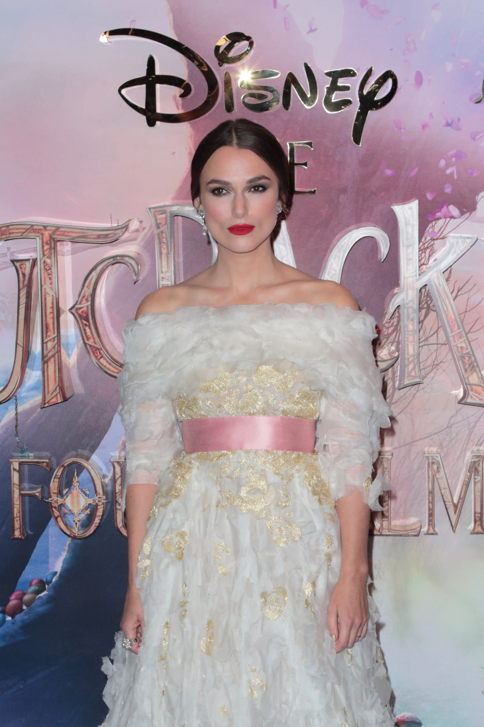 LONDON, UNITED KINGDOM - NOVEMBER 01: Keira Knightley attends the European Premiere of Disney's 'The Nutcracker And The Four Realms' at Vue Westfield on November 1, 2018 in London, England.  PHOTOGRAPH BY Jamy / Barcroft Images (Photo credit should read Jamy / Barcroft Media via Getty Images)