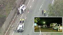 Driver 'spits blood at police' after fatal crash in stolen car