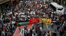 Israel, Palestinian supporters clash near Israeli consulate in New York