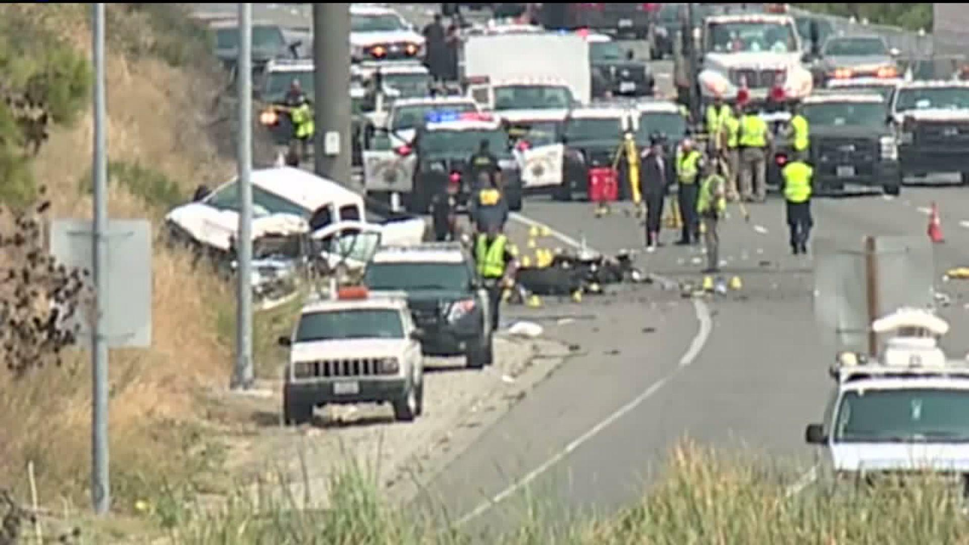 California Highway Patrol Officer Killed in Three-Vehicle Crash