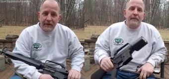 Gun owner saws AR-15 in half in viral video