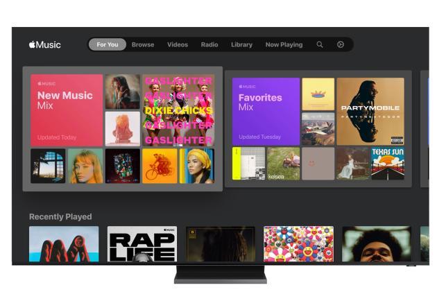 Apple Music is available on Samsung Smart TVs