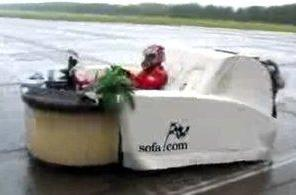 Sofa sets new land speed record for furniture