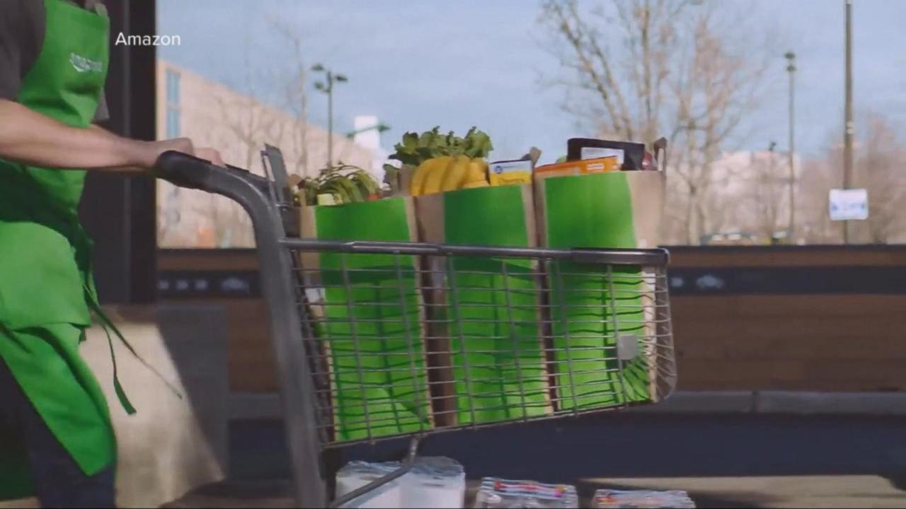 amazon launches drive up grocery service video