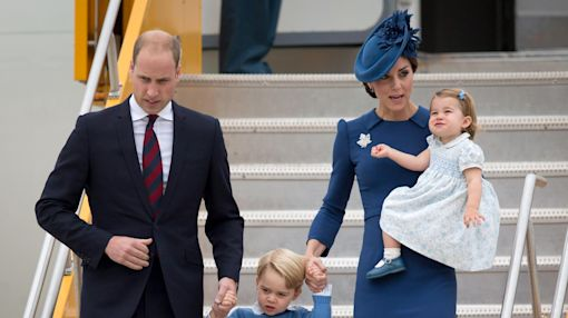 William, Kate arrive in Canada with 2 young children