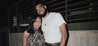Karl-Anthony Towns Gifts Girlfriend Jordyn Woods 'Love' Sweatshirt While Sick with COVID-19
