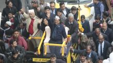 Journey for next 5 yrs begins today, must knock on every door: Kejriwal