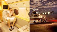 Gusttavo Lima exibe interior luxuoso de jatinho de R$ 180 milhões