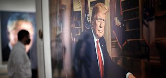 Trump portrait goes up, with another on its way