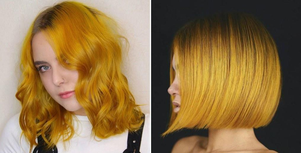The Mustard Yellow Hair Color Trend Is Basically The Opposite Of