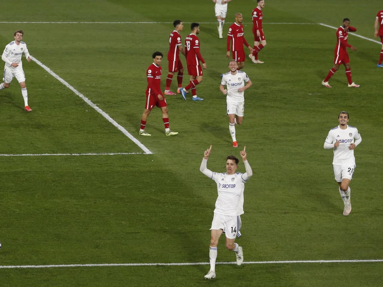 英超利物浦被列斯聯迫和1:1