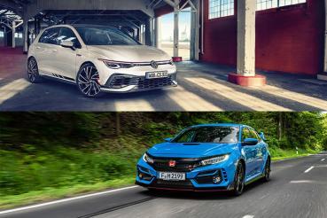 誰才是賽道最速前驅?Volkswagen Golf GTI Clubsport vs Honda Civic Type R