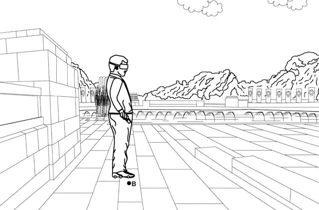 Google envisions smart roller skates for walking endlessly in VR