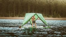 Sleep anywhere with this tent designed to conquer land, sea, and air