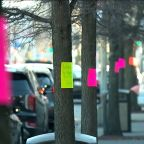 Coronavirus News: Woman leaves messages of hope outside NYC hospital