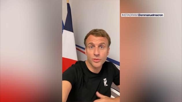 """""""Faites-le pour les autres aussi"""": dans une vidéo depuis Brégançon, Macron exhorte à la vaccination des jeunes"""