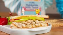 Cheesy Grilled Chicken with Apple Sandwich