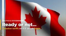Canadian tariffs on U.S. goods begin